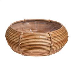 Кашпо Edelman flower santiago bowl d43см h17см коричневое