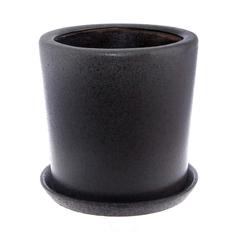 Горшок Qianjin для цветов темн.серый цилиндр д25 с поддоном