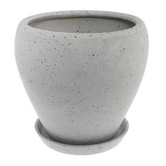 Горшок Qianjin для цветов белый камень д24 с поддоном