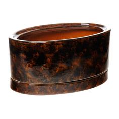 Горшок цветочный Элитная керамика овал коричневый 28*10 см