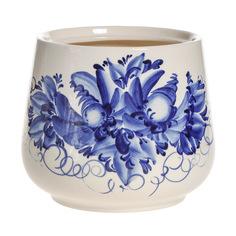 Горшки для цветов декоративные Гончар Скарлет №1 (синий цветок) 31 см