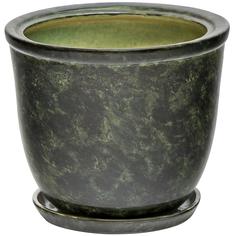 Горшок для цветов Элитная керамика кедр зеленый 25 см