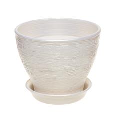 Горшок для цветов Керам Ксения белый 27 см