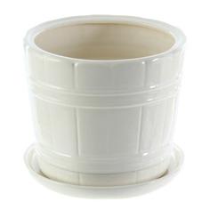 Горшок для цветов Элитная керамика кадка белая d20см