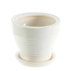 Горшок для цветов Элитная керамика №24 белый d14.5см