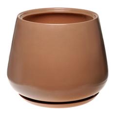 Горшок для цветов декоративный Гончар скарлет №2 (кофейный), 22 см.