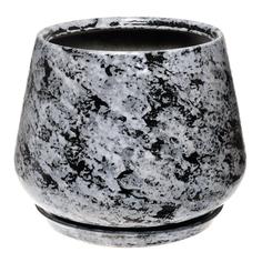 Горшок для цветов декоративный Гончар скарлет №2 (гранит), 22 см.