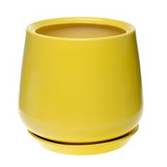 горшок для цветов декоративный Гончар СКАРЛЕТ №2 (желтый), 22 см