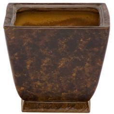 Горшок для цветов Элитная керамика парус коричневый 20 см