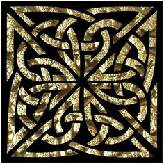 Декор Роскошная мозаика Левадия золото 8x8 см