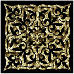 Декор Роскошная мозаика Катар золото 8x8 см