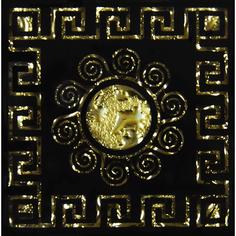 Декор Роскошная мозаика Византия платина 6,6x6,6 см
