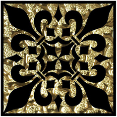 Декор Роскошная мозаика Мальта золото 8x8 см