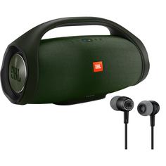Портативная акустика JBL Boombox Green + Наушники JBL Duet Mini Black
