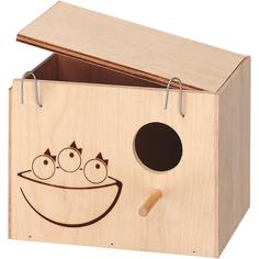 Домик-гнездо для птиц FERPLAST Nido Medium деревянный