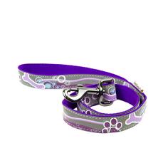 Поводок для собак GREAT&SMALL Светоотражающий 20x1200мм фиолетовый