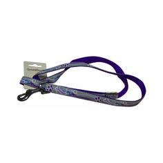 Поводок для собак GREAT&SMALL Светоотражающий 10x1200мм фиолетовый