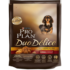Корм для собак PRO PLAN Duo Delice Adult для мелких и карликовых пород, курица, рис, 700 г