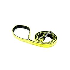 Поводок для собак GREAT&SMALL Со светоотражающей острочкой 20х1200мм желтый
