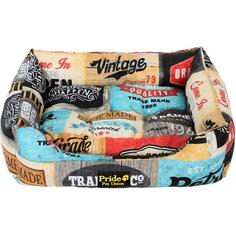 Лежак для собак PRIDE Винтаж Кантри 52x41x10 см