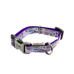 Ошейник для собак GREAT&SMALL Светоотражающий 25х450-650мм фиолетовый