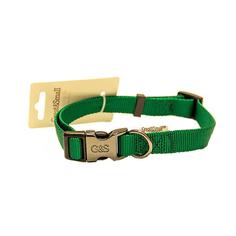 Ошейник для собак GREAT&SMALL 20x350-550мм Нейлон зеленый