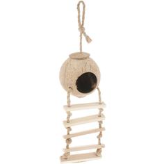 Домик для птиц Triol из кокоса с лестницей 450 мм