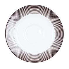 Блюдце Porcelaine du Reussy Sancerre Linea Brun кофейное