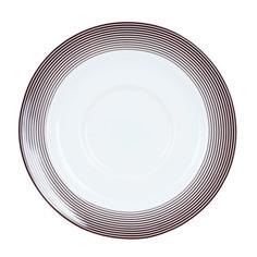 Блюдце Porcelaine du Reussy Sancerre Linea Brun чайное