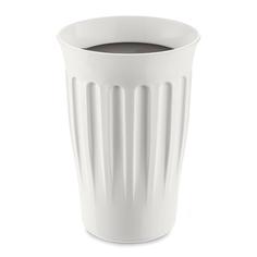 Термокружка Koziol click 350мл бело-чёрная