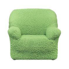 Чехол на кресло Микрофибра Зеленое яблоко Еврочехол