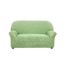 Чехол на 2-х местный диван Микрофибра Зеленый Еврочехол