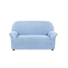 Чехол на 2-х местный диван Сиена Сатурно синий Еврочехол