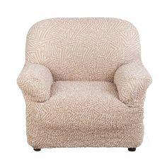 Чехол на кресло Виста Меандр бежевый Еврочехол