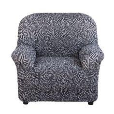 Чехол на кресло Виста Меандр серый Еврочехол
