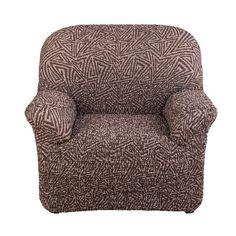 Чехол на кресло Виста Меандр коричневый Еврочехол