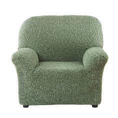 Чехол на кресло Виста Меандр фисташковый Еврочехол