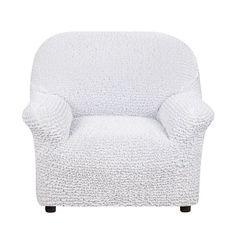 Чехол на кресло Микрофибра Жемчужный Еврочехол