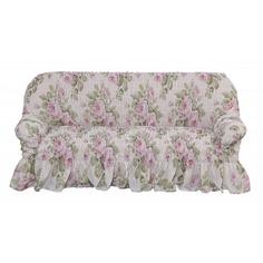 Чехол на 3-х местный диван Фантазия Чайная роза Еврочехол