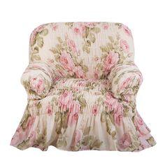 Чехол на кресло Фантазия Чайная роза Еврочехол