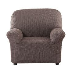 Чехол на кресло Элегант коричневый Еврочехол