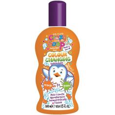 Волшебная пена для ванны Kids Stuff меняющая цвет из оранжевого в зеленый 300 мл