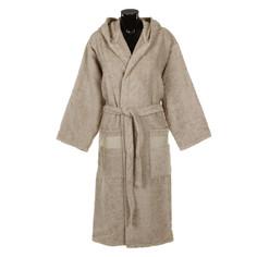 Халат махровый L/XL унисекс Roberto Cavalli Araldico серый с шалькой