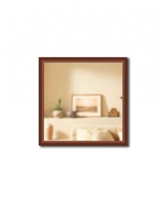 Зеркало в багетной раме Gallery 70х70 см темный орех