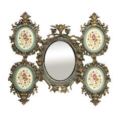 Зеркало с панно 20x25x30 Wah luen handicraft