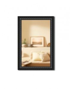Зеркало в раме Gallery 53х85 см черный орнамент