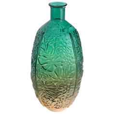 Ваза-бутыль Leaf Emerald 29 х 59 см Kaemingk