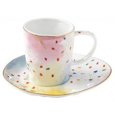 Чашка с блюдцем Easy Life Брызги красок 250 мл