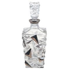 Штоф для виски 0.9л Bogemia jihlava. A.s glacier декор с патиной