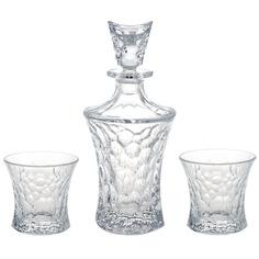 Набор для виски Crystal bohemia a.s. 1 штоф 700 мл + 2 стакана (200 мл)